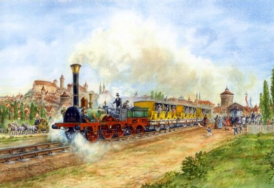Image result for first railroad germany